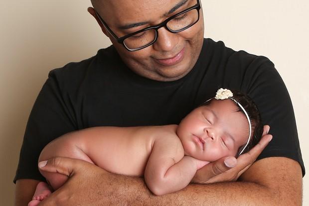 Dudu Nobre e a filha (Crédito: Reprodução)