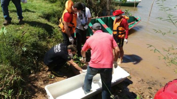 Bombeiros resgataram o corpo da vitima nesta quarta-feira  (Crédito: Portal do Catita)