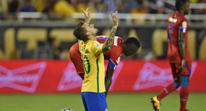Brasil goleia Haiti por 7 a 1 (Crédito: USA Today)