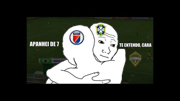 Memes sobre o jogo Brasil e Haiti (Crédito: Reprodução)
