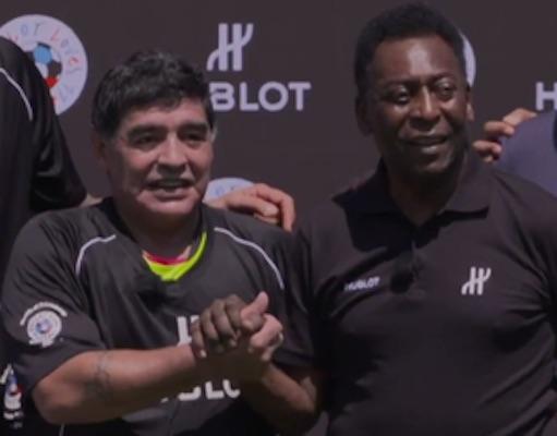 Maradona e Pelé (Crédito: Reprodução)