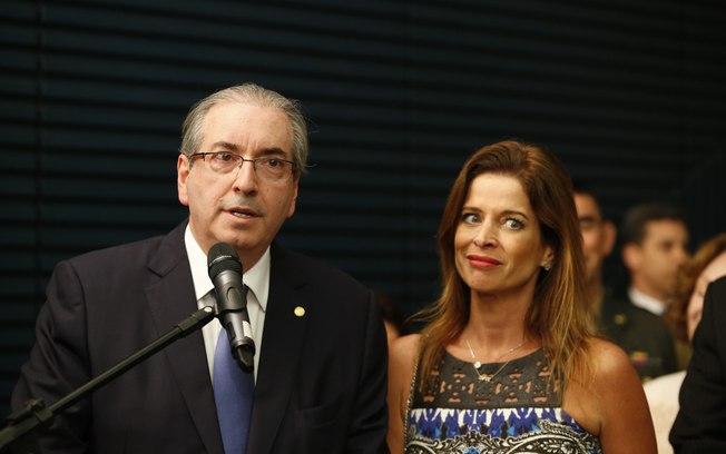 Eduardo Cunha e a esposa Claudia Cruz