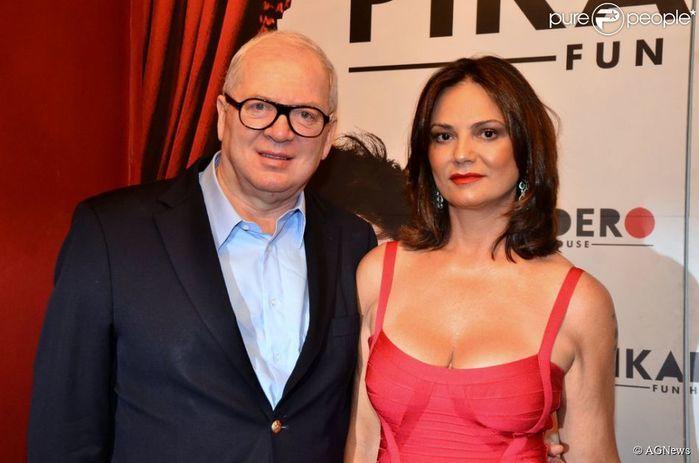 Luiza Brunet e o marido (Crédito: Reprodução)