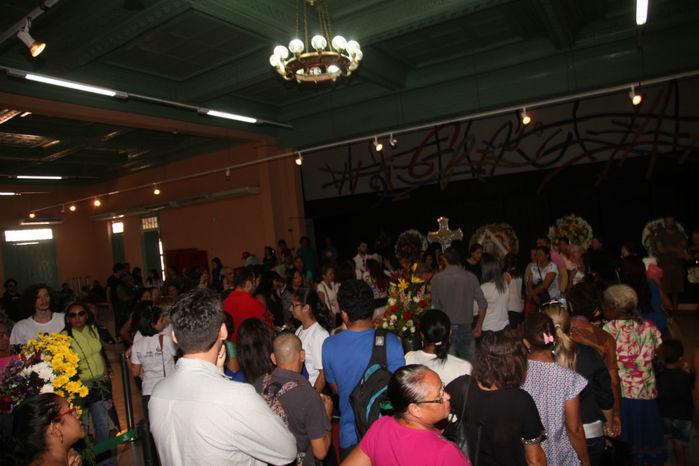 Velório de Júnior Araújo o Clube dos Diários, no Centro de Teresina (Crédito: Efrém Ribeiro)