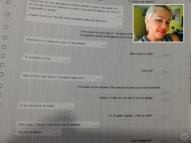 Mulher confessou crime no Whatsapp (Crédito: Reprodução)