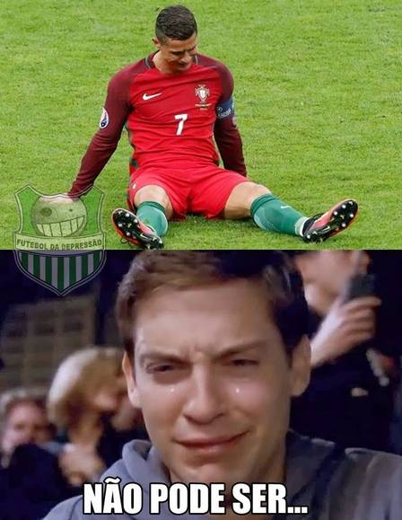 Choro de Cristiano Ronaldo na final da Euro rende memes na web  (Crédito: Reprodução)