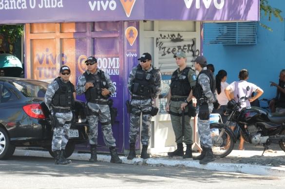 Reforço policial (Crédito: Reprodução)