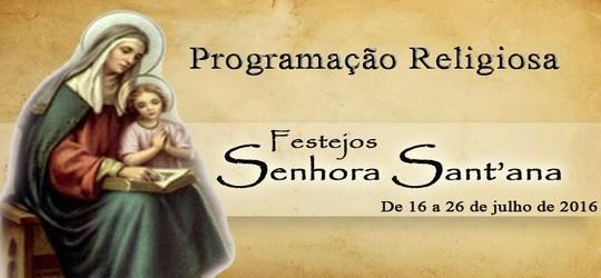 Programação dos festejos de Senhora Sant'ana em Francinópolis