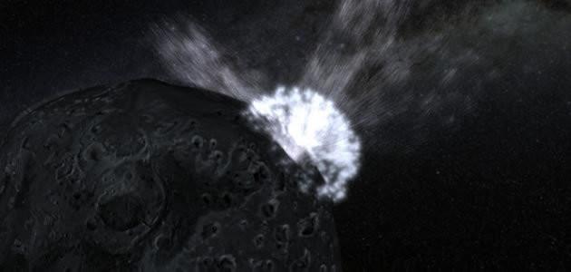 Saiba o que acontece quando dois asteroides se chocam