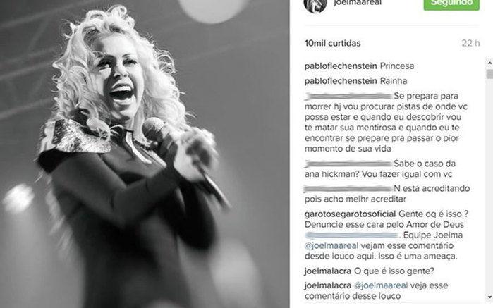 Joelma recebeu ameaças de morte  (Crédito: Reprodução/ Instagram)