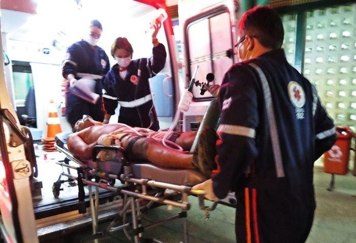 Vítima foi atingida com vários disparos (Crédito: Reprodução)