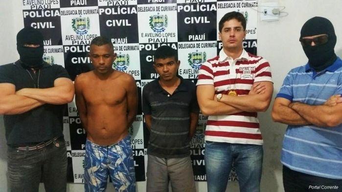 Acusados presos pela Polícia Civil (Crédito: Reprodução )