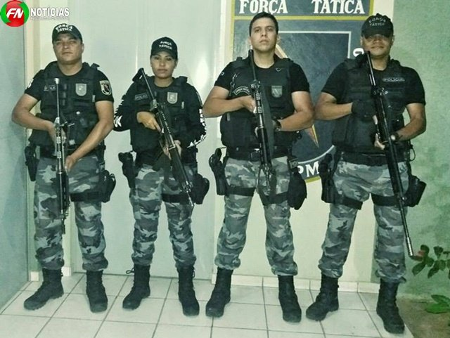 Polícia que realizou a prisão (Crédito: Reprodução)