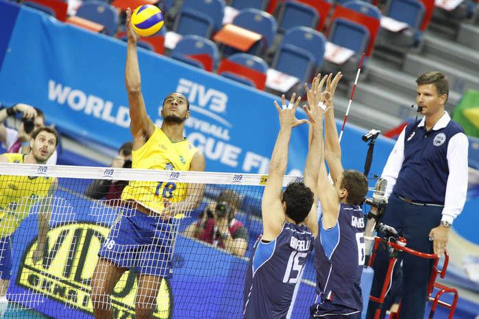 Brasil vence com autoridade a Itália na Liga Mundial de Vôlei (Crédito: Reprodução)