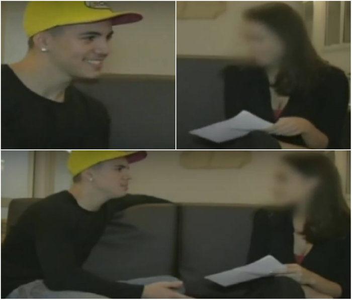 Cenas da entrevista com Biel (Crédito: Reprodução)