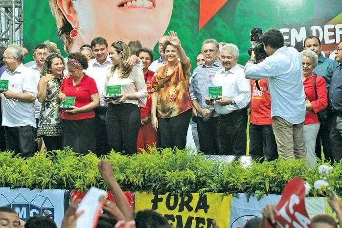 Presidente afastada Dilma Rousseff em Teresina (Crédito: Kelson Fontinele)