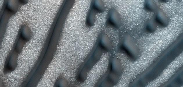 NASA detecta formas de código Morse em dunas do planeta Marte