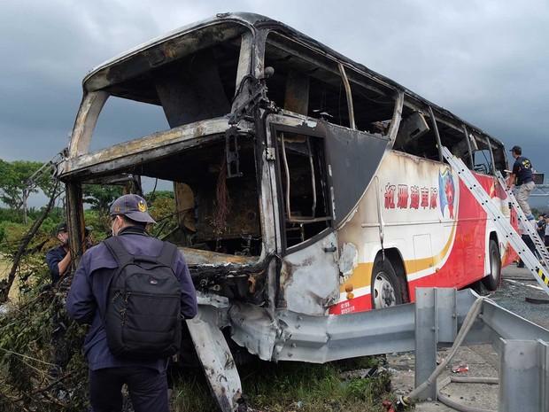 Ônibus explodiu  (Crédito: AFP)