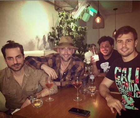 Majella, o namorado, Paulo Gustavo e o marido, Thales Bretas  (Crédito: Reprodução/ Instagram)