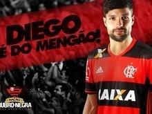 Diego volta ao Brasil e já é jogador do Flamengo