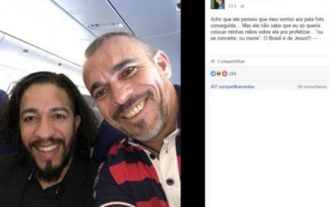 Jean e pastor Marcos Klein (Crédito: Facebook)