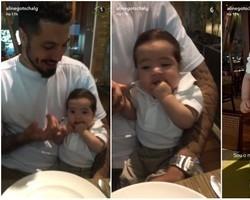 Aline Gotschalg posta foto do filho:
