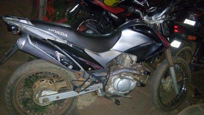 Moto Honda encontrada na BR-316 (Crédito: Riachão Net)