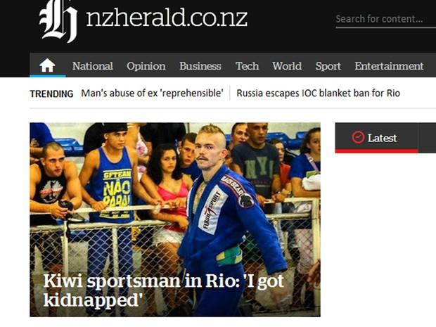 Lutador afirma que foi sequestrado (Crédito: Reprodução)