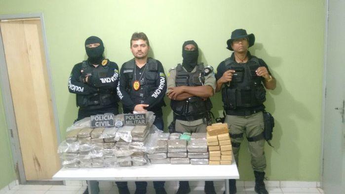 Apreensão de drogas no Piauí (Crédito: Reprodução)