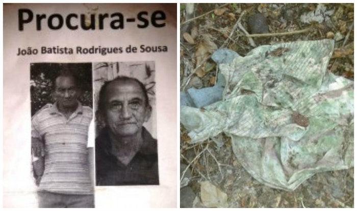 Um caçador encontrou os restos mortais do idoso