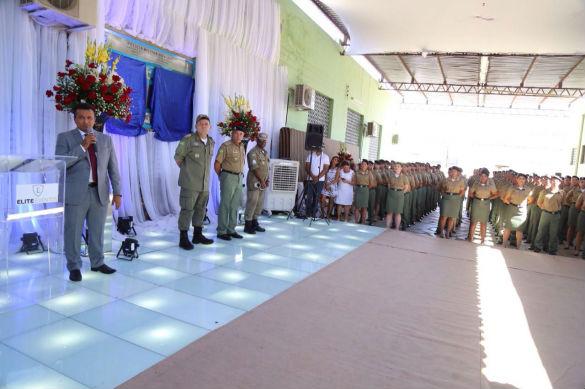Formatura de novos soldados da Polícia Militar (Crédito: Tavynho Neto)