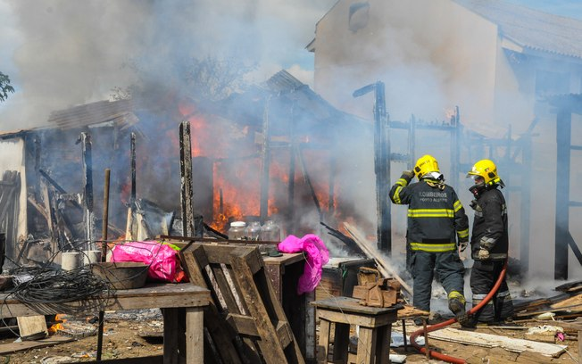 A casa do idoso ficou toda destruída