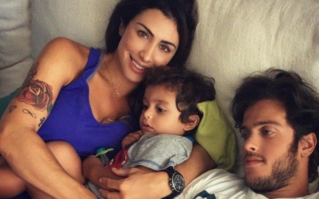 Jaque, Rafael e o filho Gael (Crédito: iG)