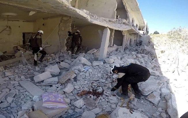 Hospital na Síria foi atingido por um bombardeio