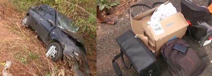 Colisão entre 3 veículos deixa um morto e três feridos em Caxias (Crédito: reprodução)