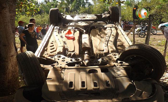 Colisão de carro com moto deixa um morto e dois feridos em JF (Crédito: Reprodução)