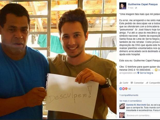 Guilherme e José Mauro se reencontram em Serra Negra (Crédito: Reprodução)