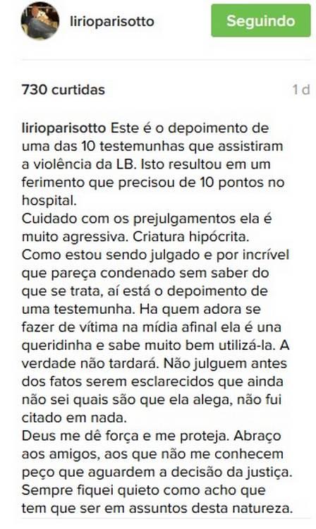 Empresário negou que agrediu Brunet (Crédito: Divulgação)