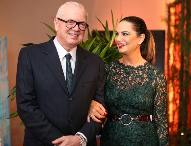 Luiza Brunet e ex marido (Crédito: Reprodução)