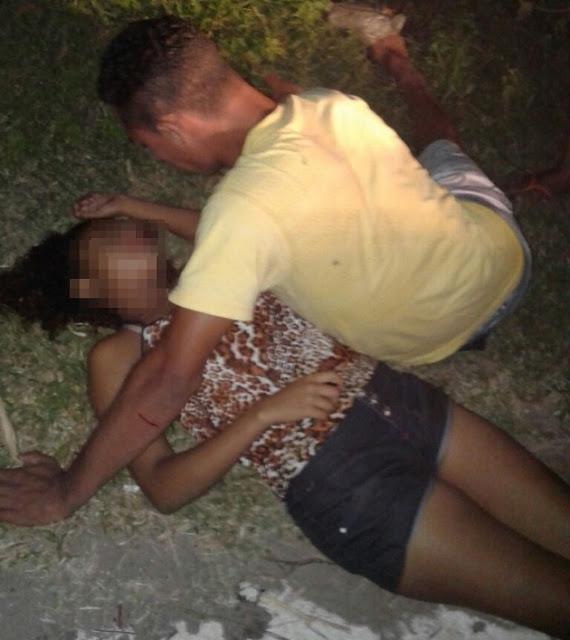 Jovem ficou desacordada após acidente (Crédito: Reprodução)