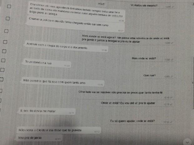 Mulher que confessou por WhatsApp ter matado amante é presa  (Crédito: Reprodução)