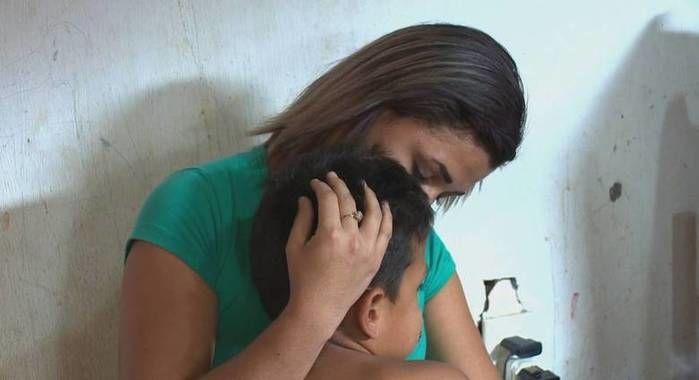 Menino de sete anos é espancado pela madrasta em Manaus (Crédito: Reprodução)
