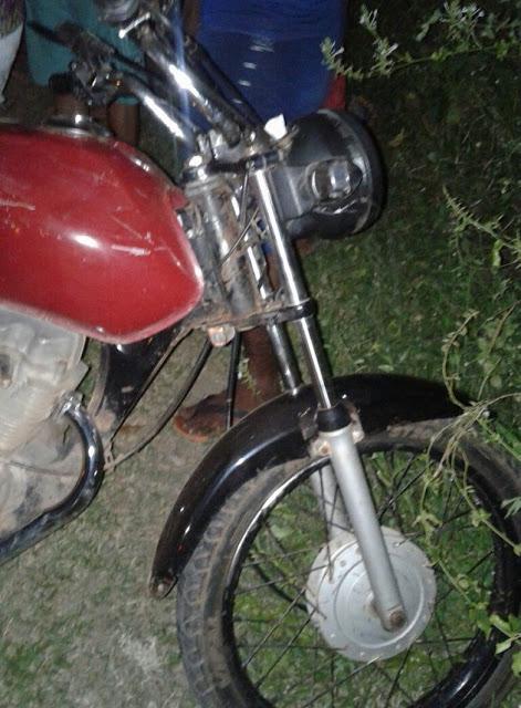 Acidente envolveu moto e cavalo (Crédito: Reprodução)