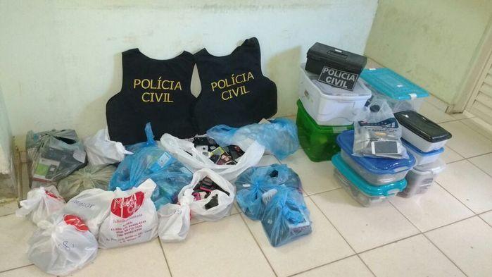 Apreensão da Polícia Civil (Crédito: Reprodução)