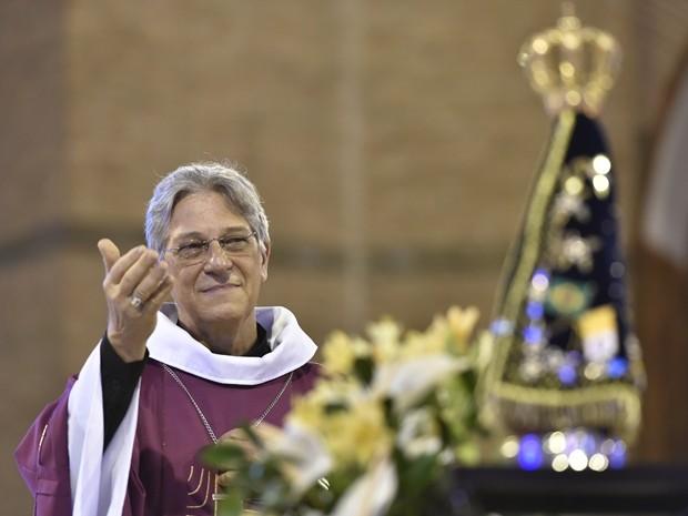 Dom Aldo apresentou carta da reúncia, que foi aceita pela Igreja (Crédito: Santuário de Aparecida)