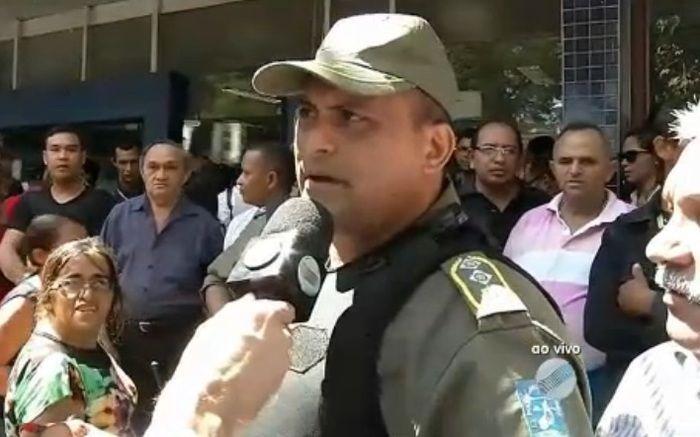 Polícia presente no local (Crédito: Reprodução/TV Meio Norte)