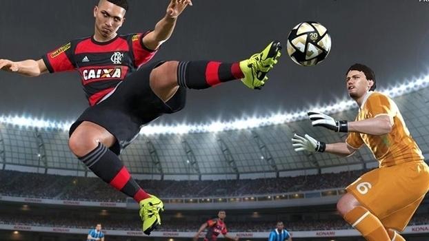Flamengo tem contrato com a PES, arquirrival do Fifa, que foi processado pelo clube (Crédito: Reprodução)