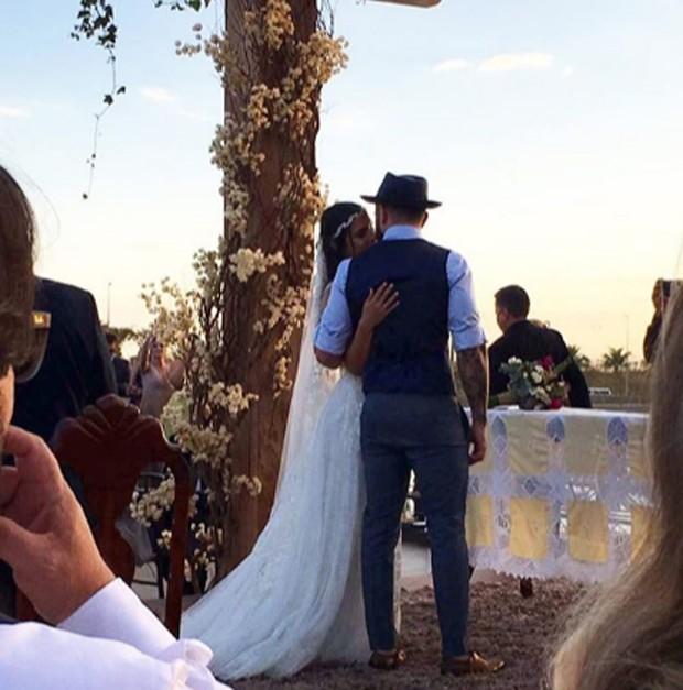 Mateus, da dupla com Jorge, se casa em Goiânia (Crédito: Reprodução)
