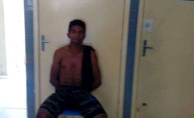Acusado preso por furto (Crédito: Reprodução)