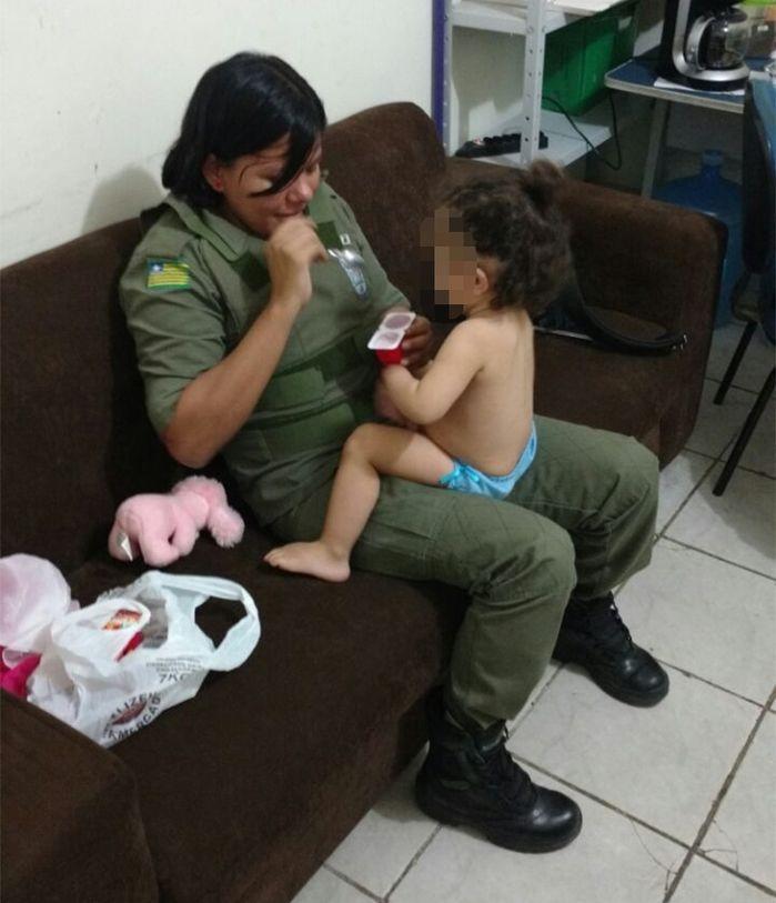 Criança foi resgatada (Crédito: Reprodução)